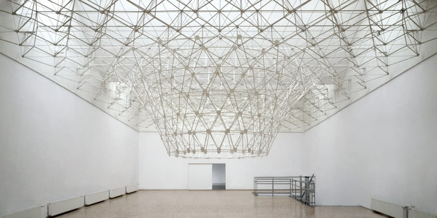 Ewa Axelrad, PLANT Site-specific installation, mixed-media. An accretion of the gallery ceiling. Arsenal Gallery, Poznan 2011