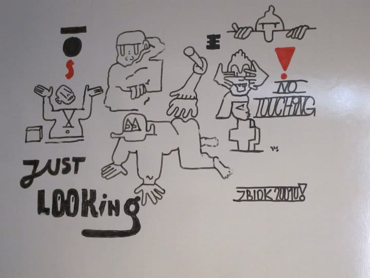 ZBIOK, a drawing for the whiteboard project, from Cedar Lewishon's archive