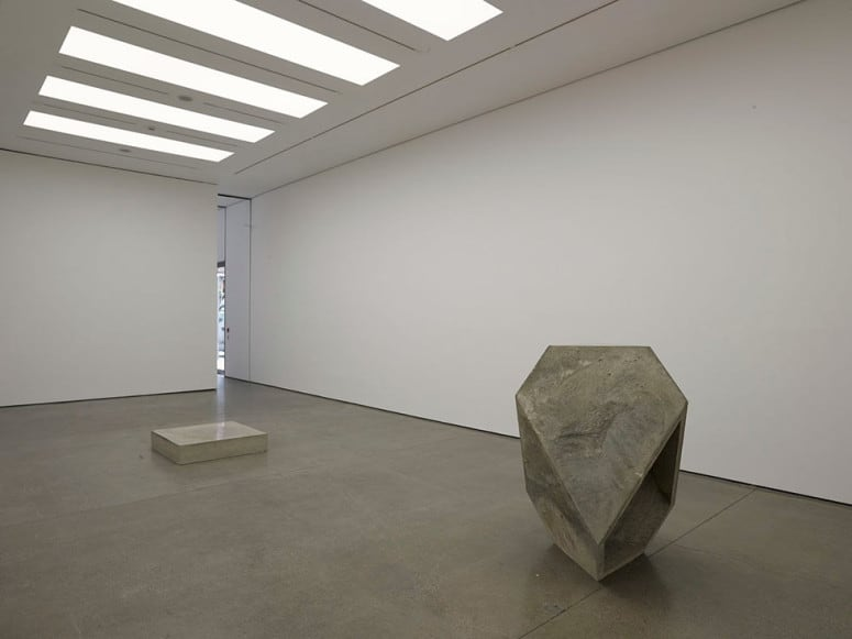 Miroslaw Balka 100 x 100 x 20, TTT (Left to right) Concrete and LED Dimensions variable DIE TRAUMDEUTUNG 25,31m AMSL. White Cube Mason's Yard London 2014.