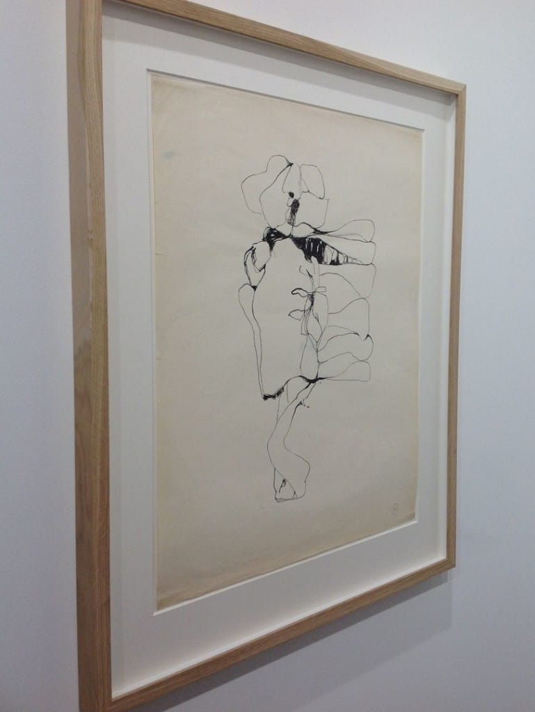 Alina Szapocznikow, Untitled, c. 1970-1971, ink on laid paper watermarked, 63 x 43 cm, Andrea Rosen Gallery, photo Contmporary Lynx