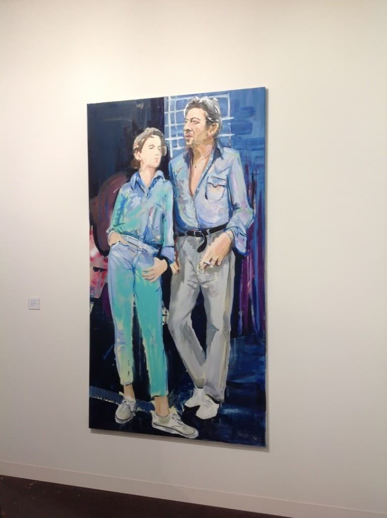 Paulina Ołowska, Charlotte and Serge, 2015, oil on canvas, 220 x 120 cm, Metro Pictures, photo Contemporary Lynx