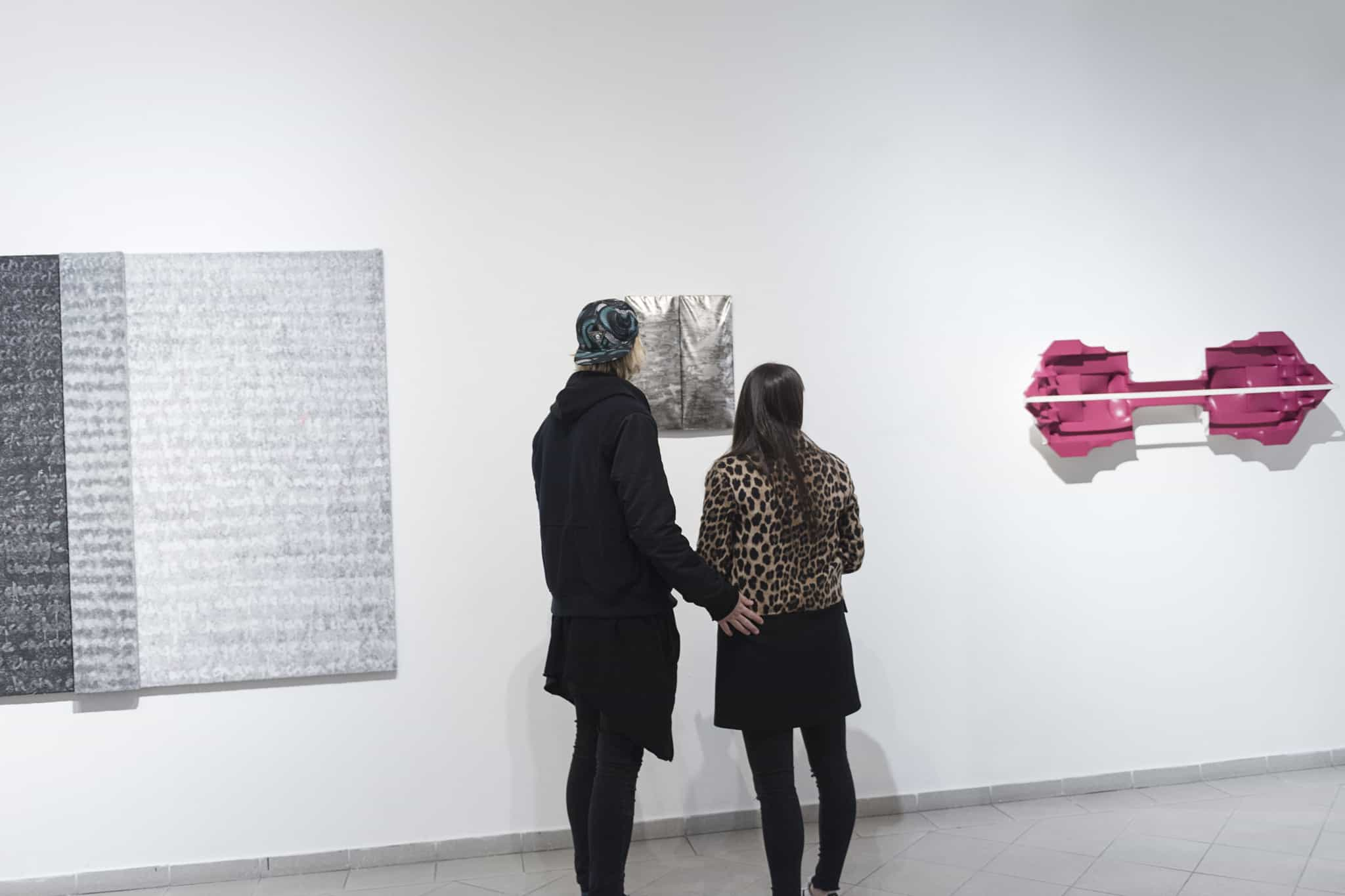 """Opening of the exhibition """"Transitions"""", artists: Alicja Gaskon and Árpád Forgó, curator: Tomasz Piars, Platan Gallery, March 2016, Budapest"""