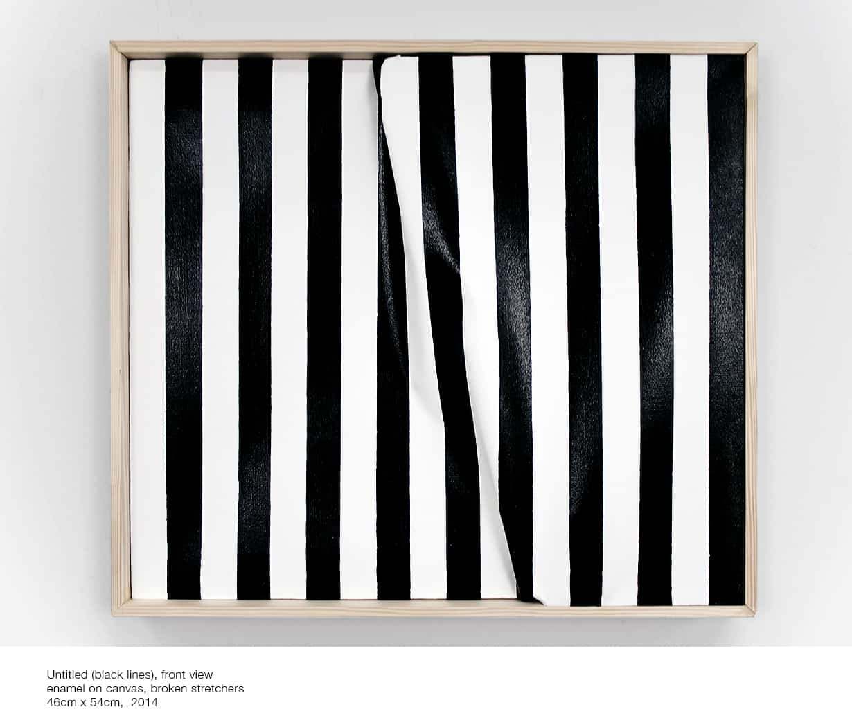 Alicja Gaskon, Untitled (black lines), front view, courtesy of the artist