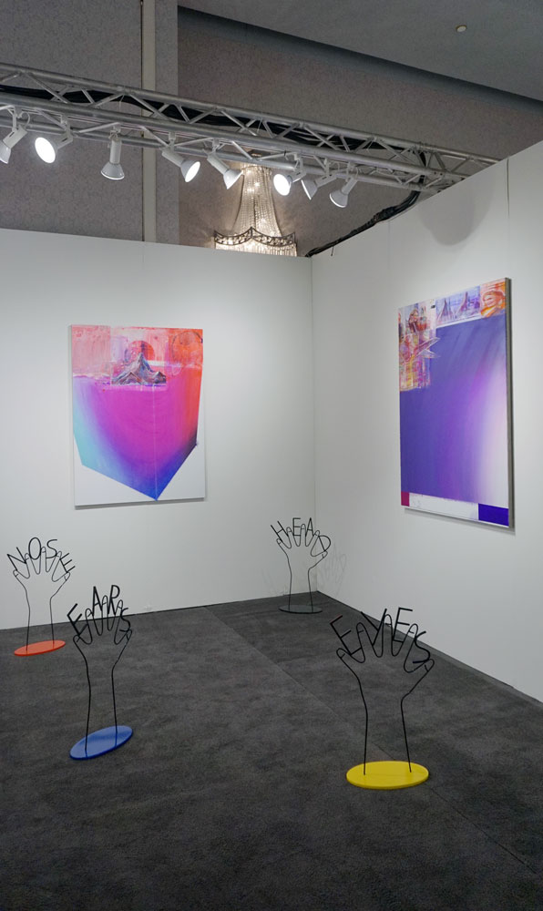 A Sculptures by Honza Zamojski and paintings by Radek Szlaga at Poland's Leto Gallery