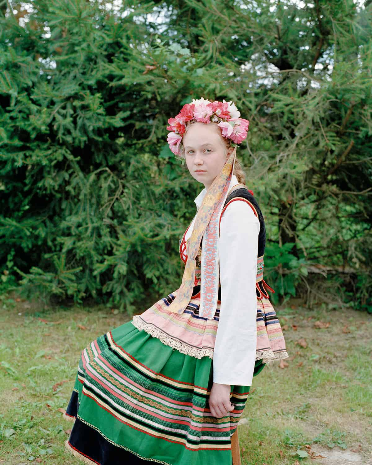 Darek Fortas, Portrait I (Girl in Traditional Outfit), from the series 'At Source'; (2013), Courtesy the artist.