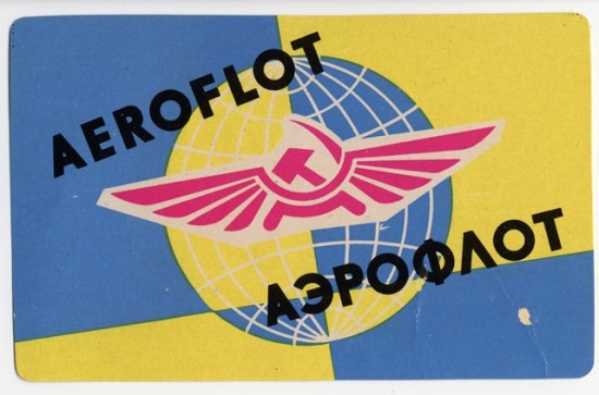 A bevy of old airline labels.