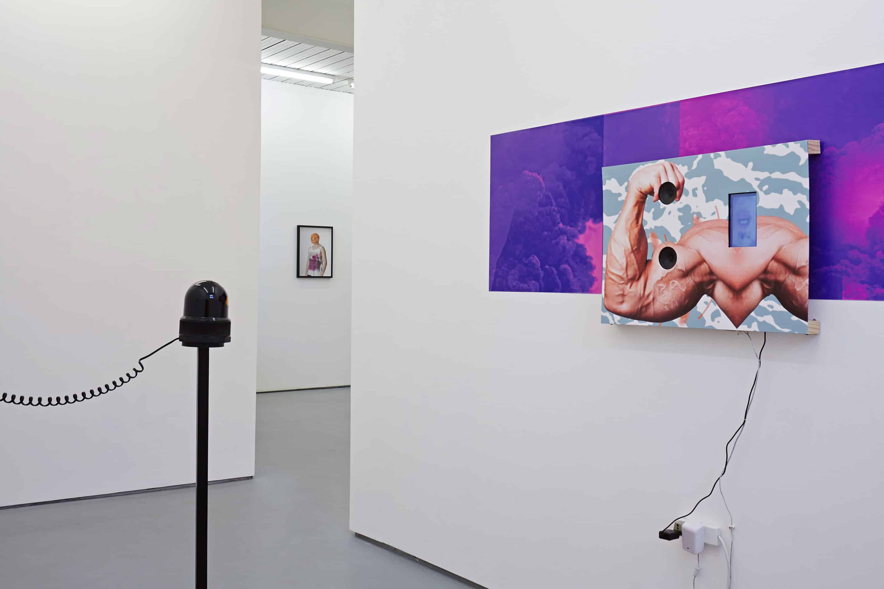 Norbert Delman, View on exhibition, Illegal Personal Contact With An Opponent, 2015