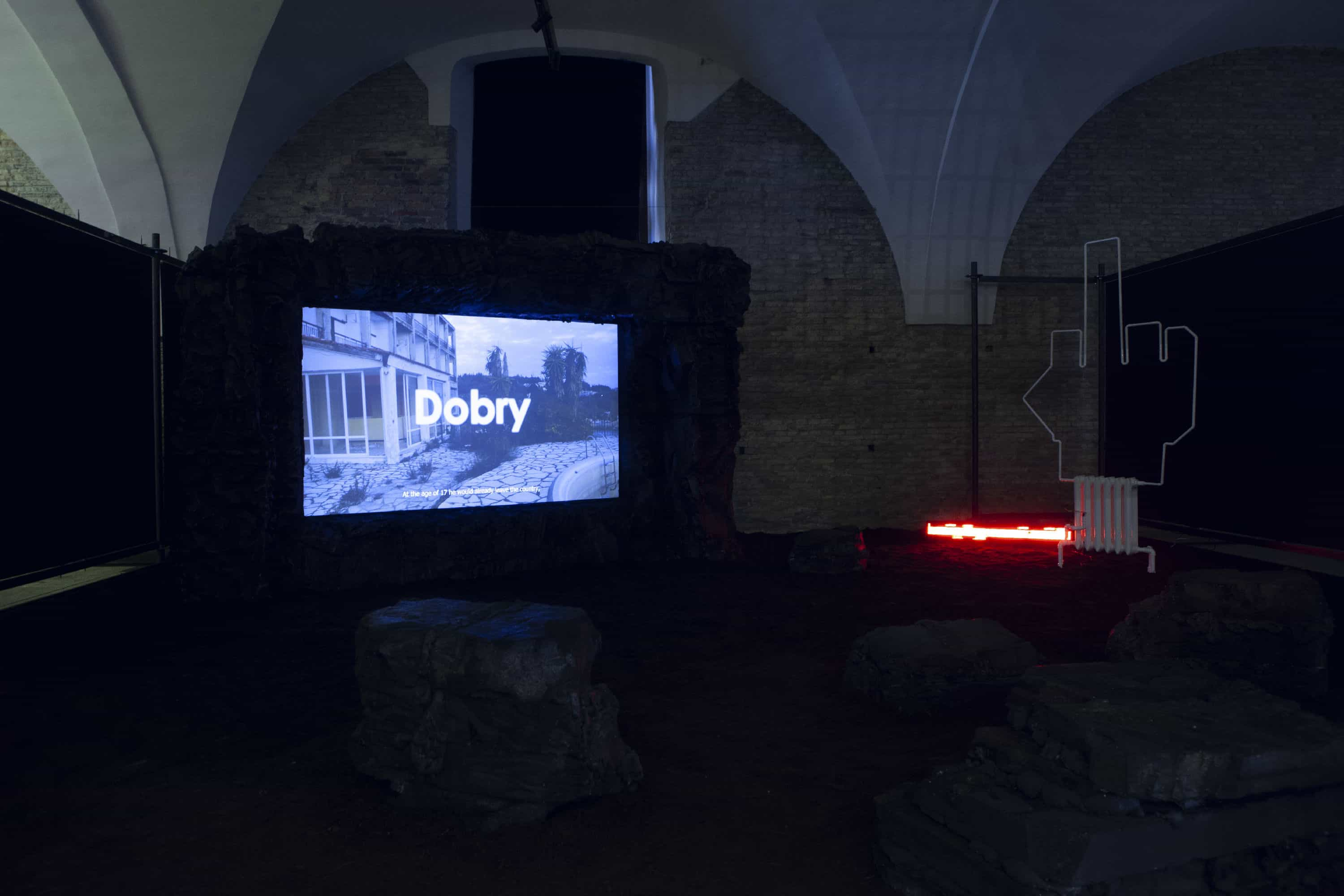 View of the exhibition by Róża Duda and Michał Soja in the Armoury of Arts in Gdańsk, courtesy Róża Duda and Michał Soja.