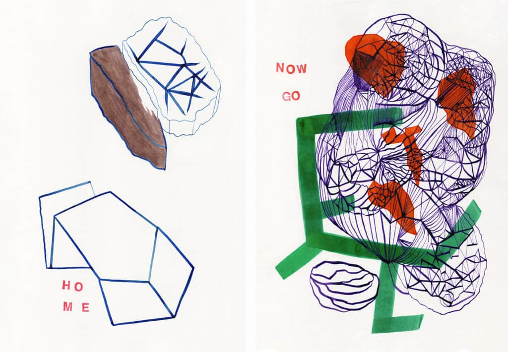 Justyna Scheuring, drawings, 2014