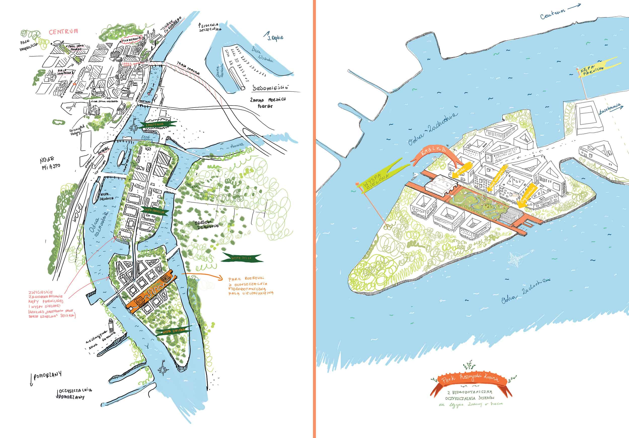 Sonia Dubois: Entertainment and educational park with hydrobotanic wastewater treatment plant on the Green Island in Szczecin