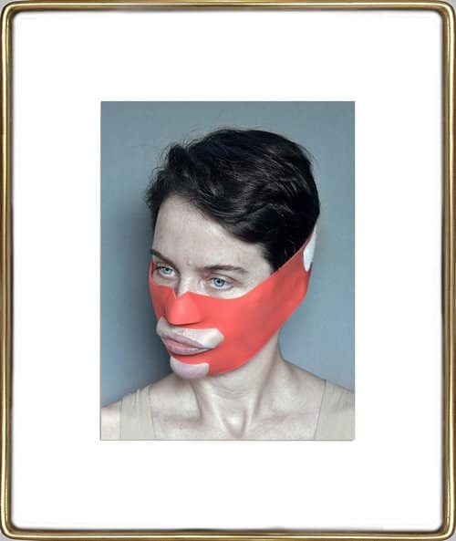 Aneta Grzeszykowska, Beauty Mask #2, 2017, pigment ink on cotton paper, courtesy of Lyles & King Gallery
