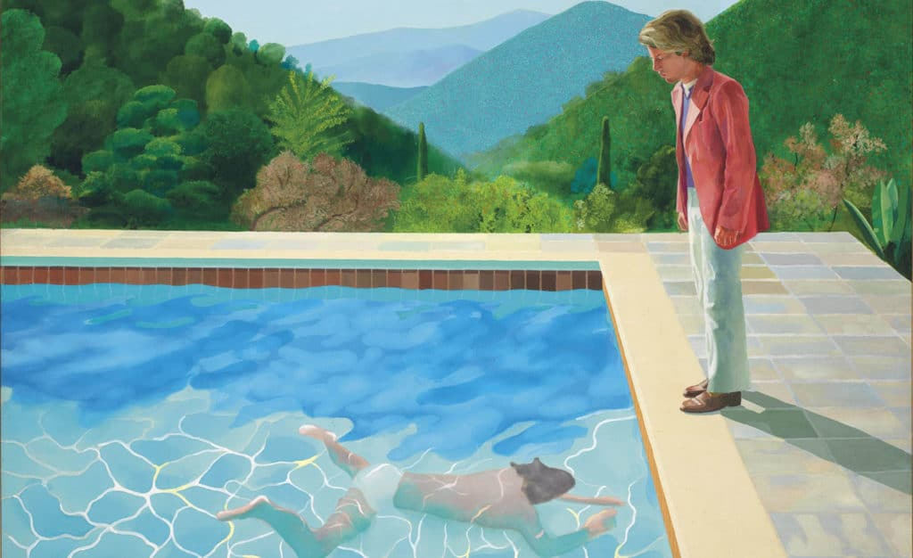 _Portrait of an Artist (Pool with Two Figures)_ (1972) by David Hockney, Courtesy Christie's