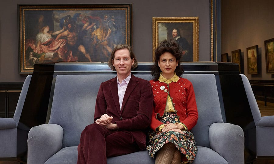 Wes Anderson and Juman Malouf in the Picture Gallery, Kunsthistorisches Museum Vienna, Courtesy ┬ę KHM-Museumsverband