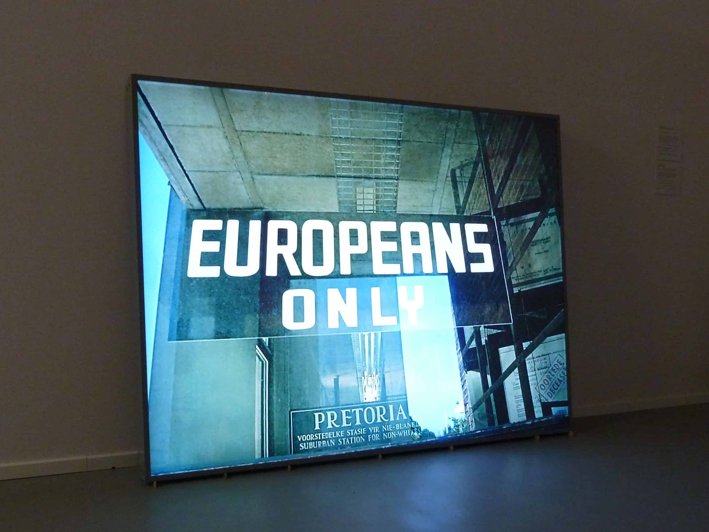 Paweł Kowalewski, %22Europeans only%22, work from the cycle %22Not allowed%22, 2010, lightbox, 100 x 70 cm