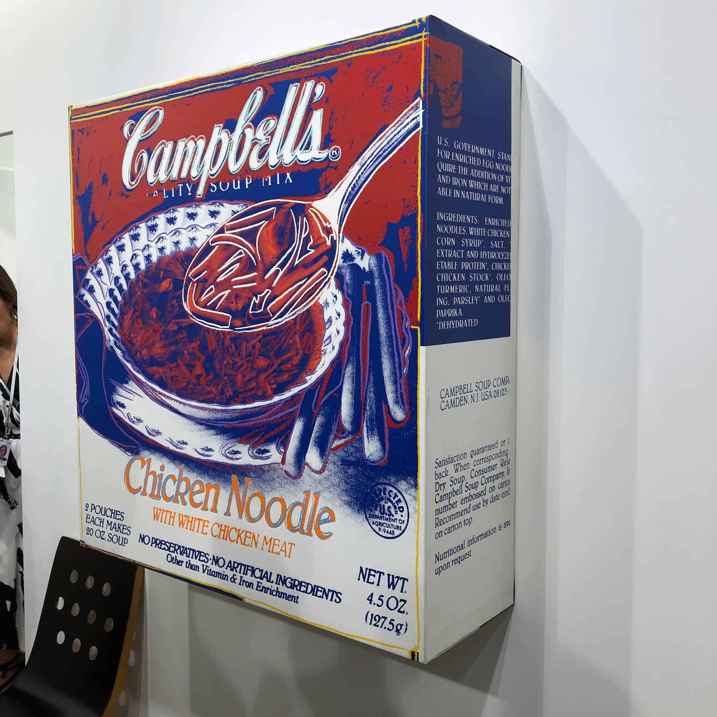 Andy Warhol, Campbell's chicken noodle soup box, 1986, Galerie Thaddaeus Ropac