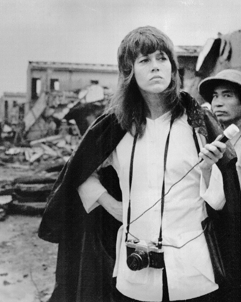 American actress Jane Fonda pays visit to the Truong Dinh residential center in the Nai Ba Trung District in Hanoi. July 18, 1972  Credit: Bettmann License