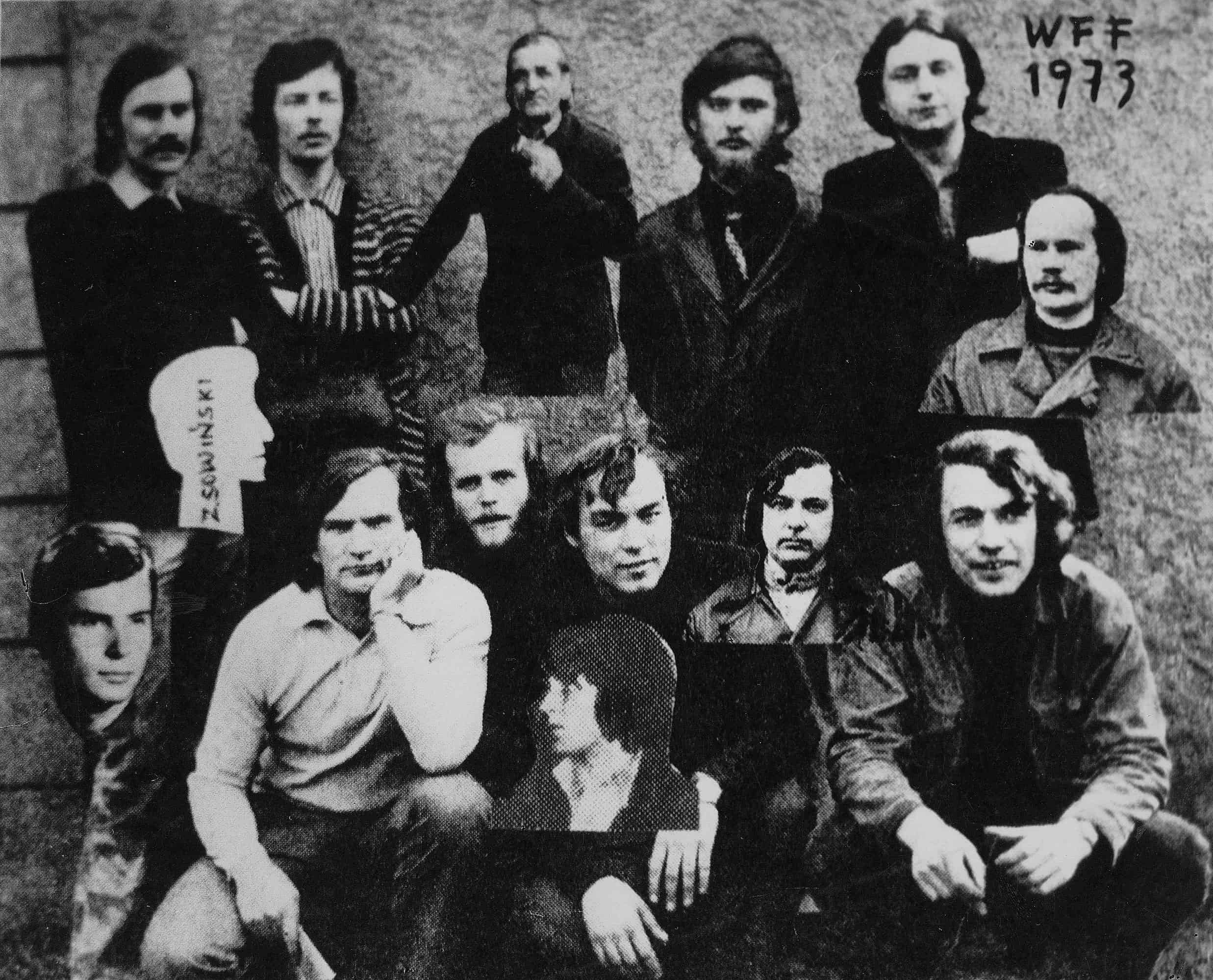 New media artists from the Workshop of the Film Form, Łódź 1973, courtesy of the Exchange Gallery