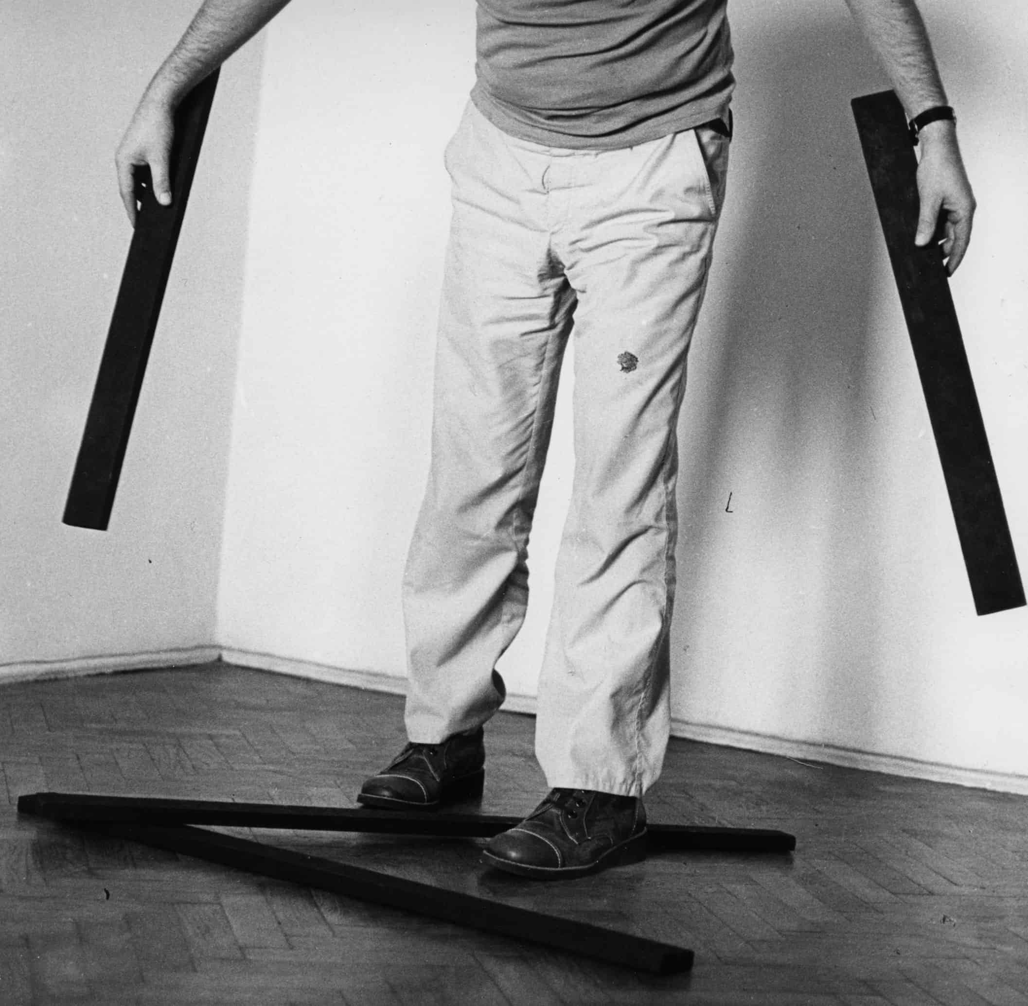 Work from 22 series, figurative image, 1979, photography on canvas, different dimensions