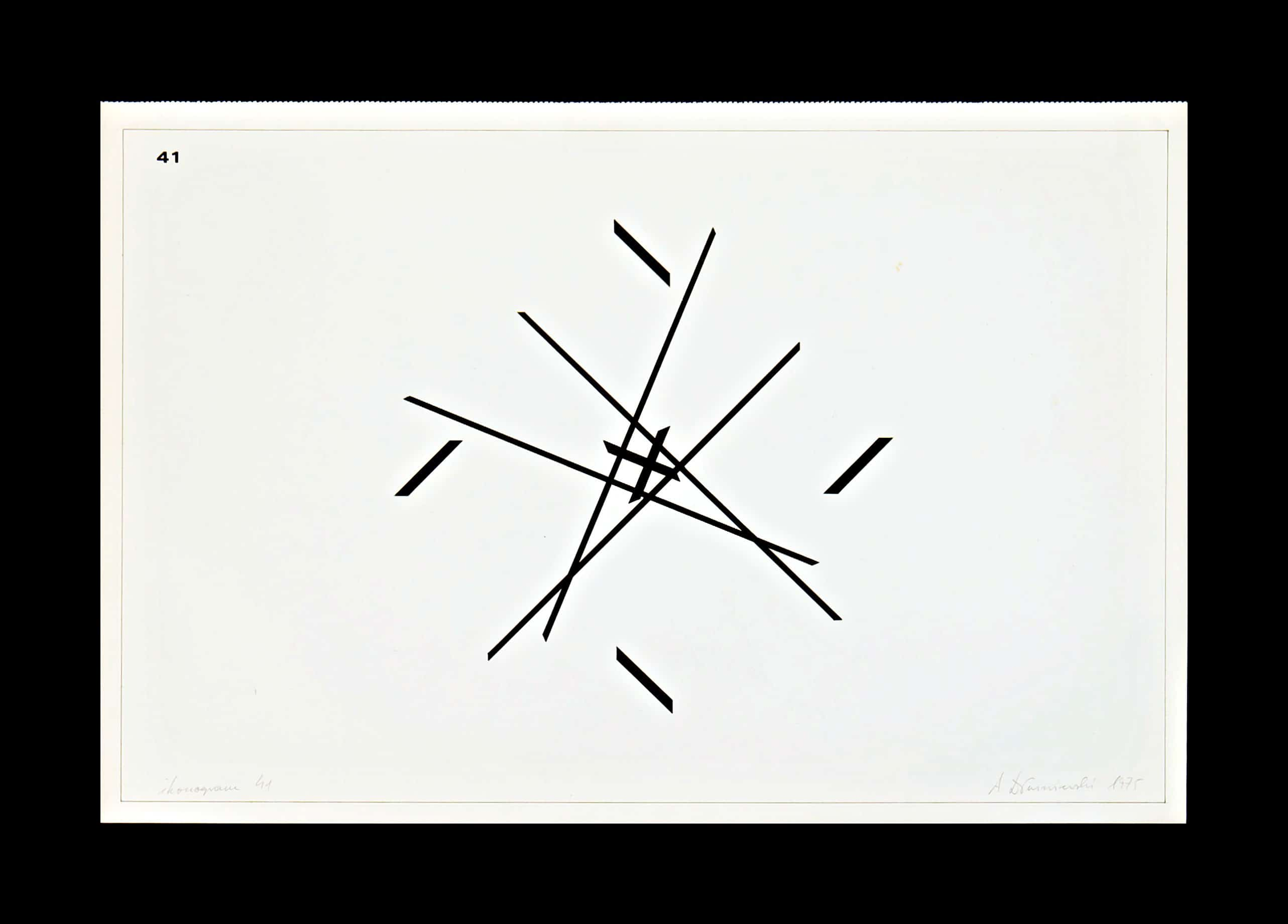 Work from series of drawing Ikonogramy, 1973-194, ink on paper, 30 x 40 cm