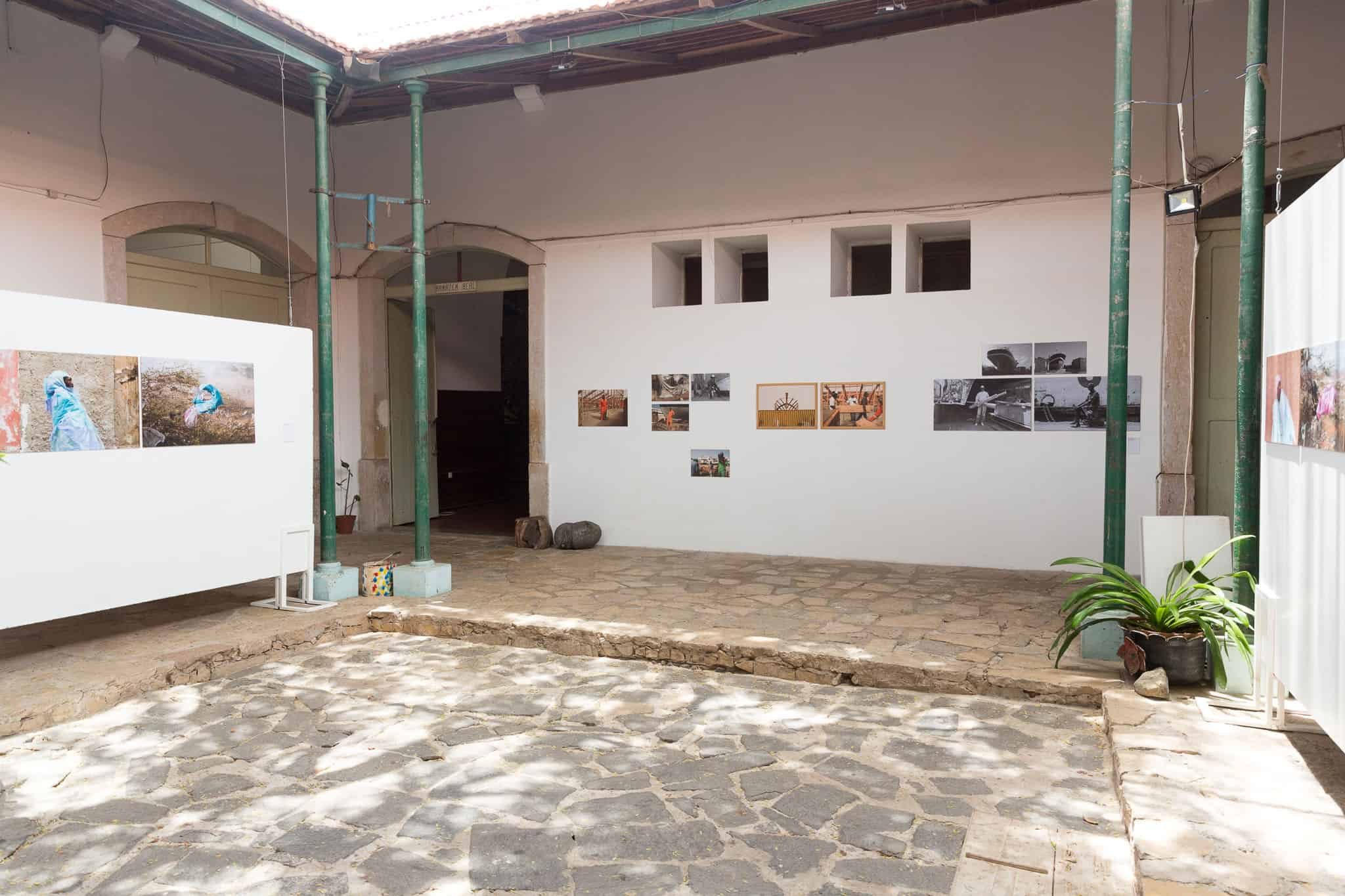 Partial view of the Catchupa Factory 2019 exhibition (curated by John Fleetwood); the work of Emídio Jozine (Moz) in the back and David Aguacheiro (Moz) on the sides