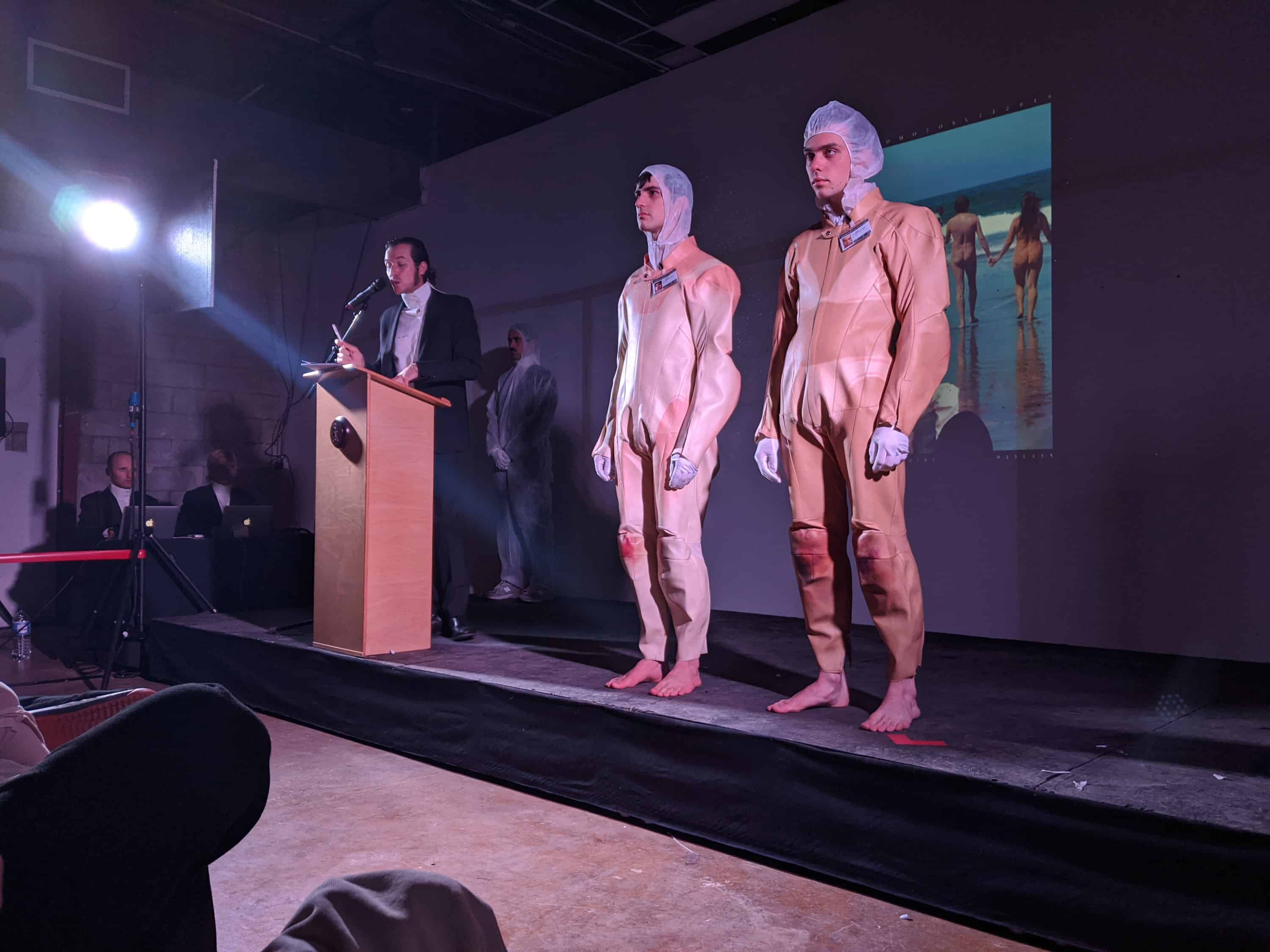 ©®38191613162016135195209451435, 'Sand Motosuit', AuctionCR28112019, 2019. Performance, curated by Belinda Martin Porras, The Biscuit Factory, London