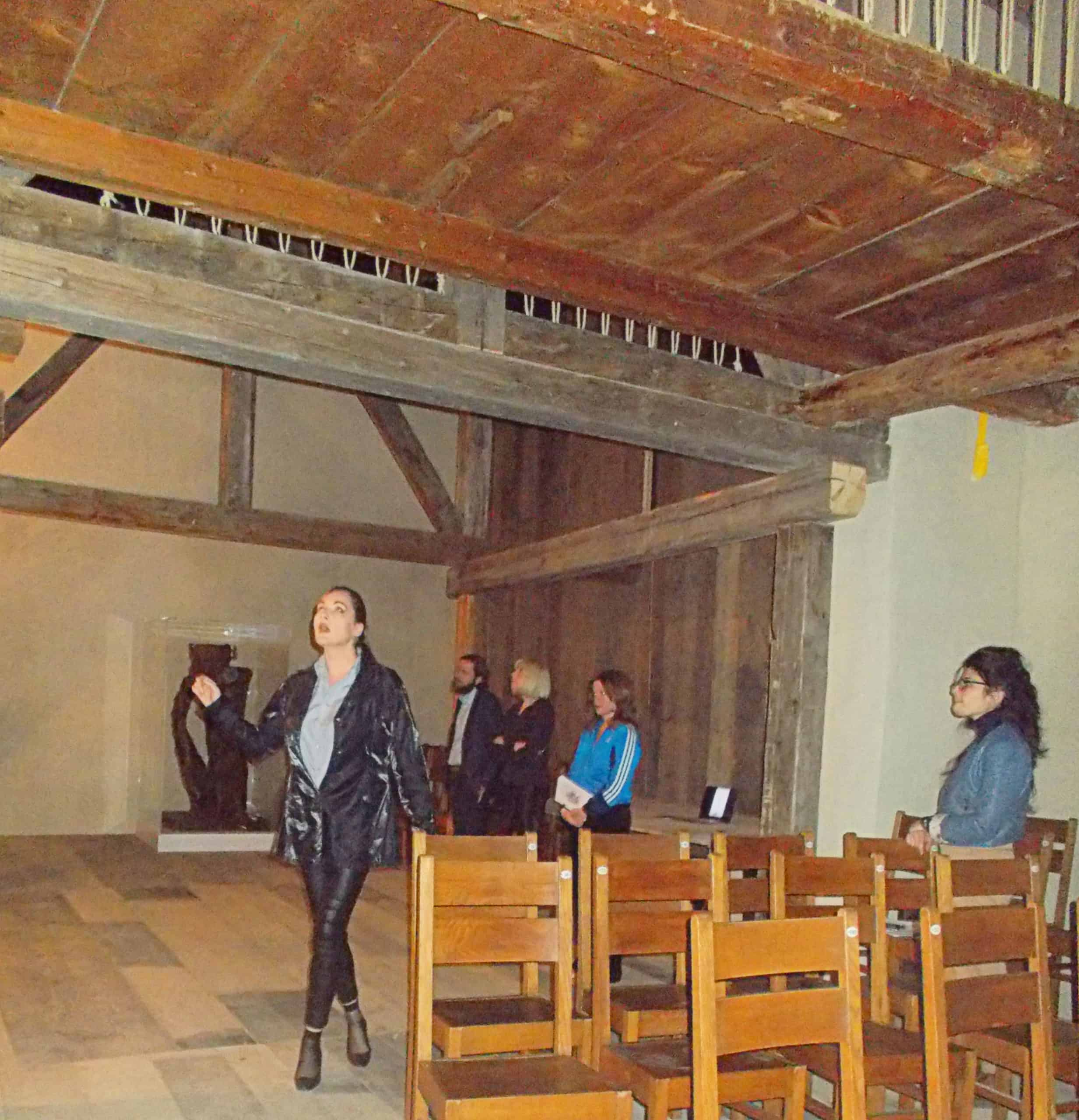 Singing at even, acoustics research at chasa temporars Susch Muzeum. Miss Kulczyk, Artemis Chryzostomidou