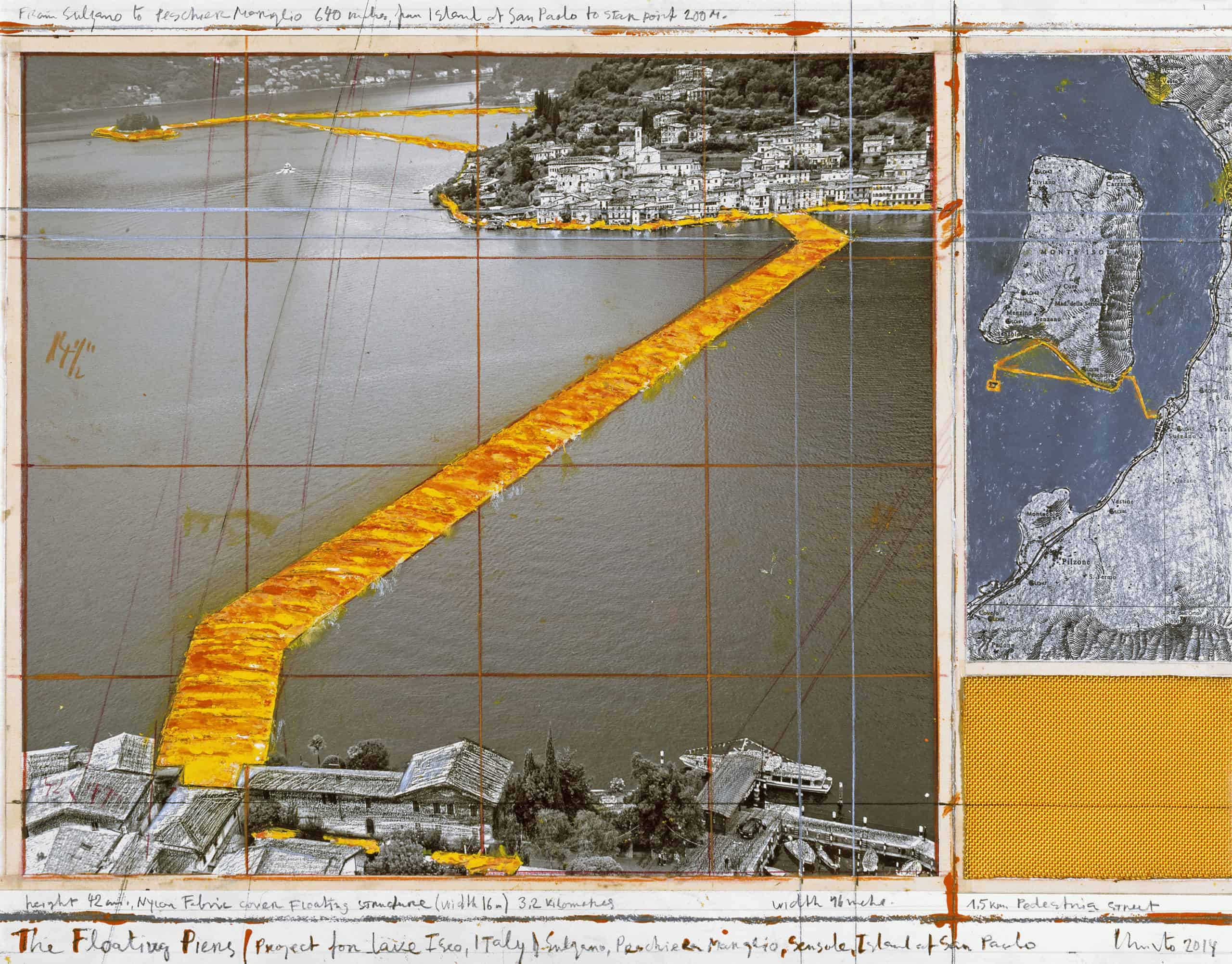 The Floating Piers (Project for Lake Iseo, Italy), 2014, photo: André Grossmann © Christo
