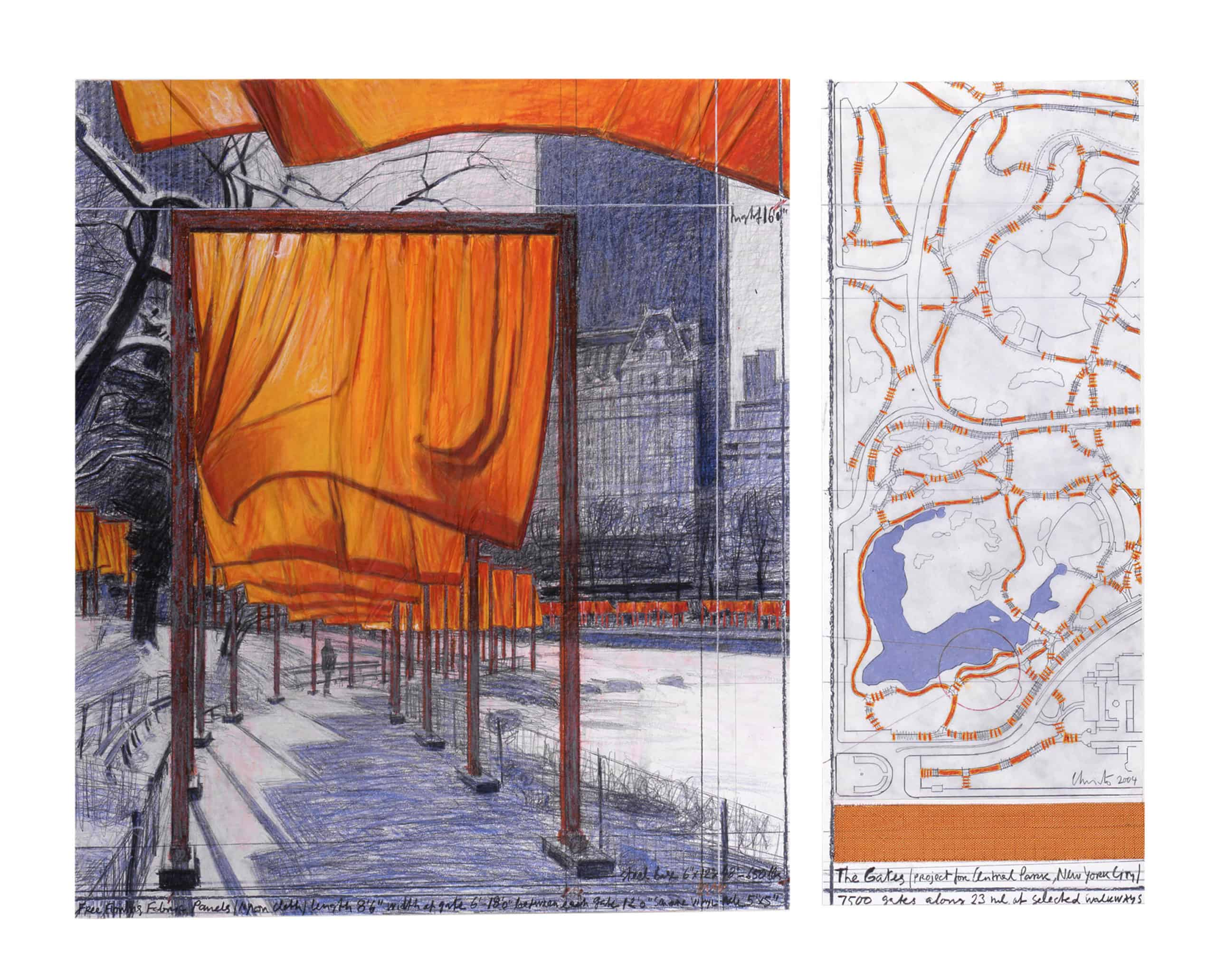 The Gates (Project for Central Park, New York City), 2004 photo: Argenis Apolinario Photography © Christo, Wolfgang Volz