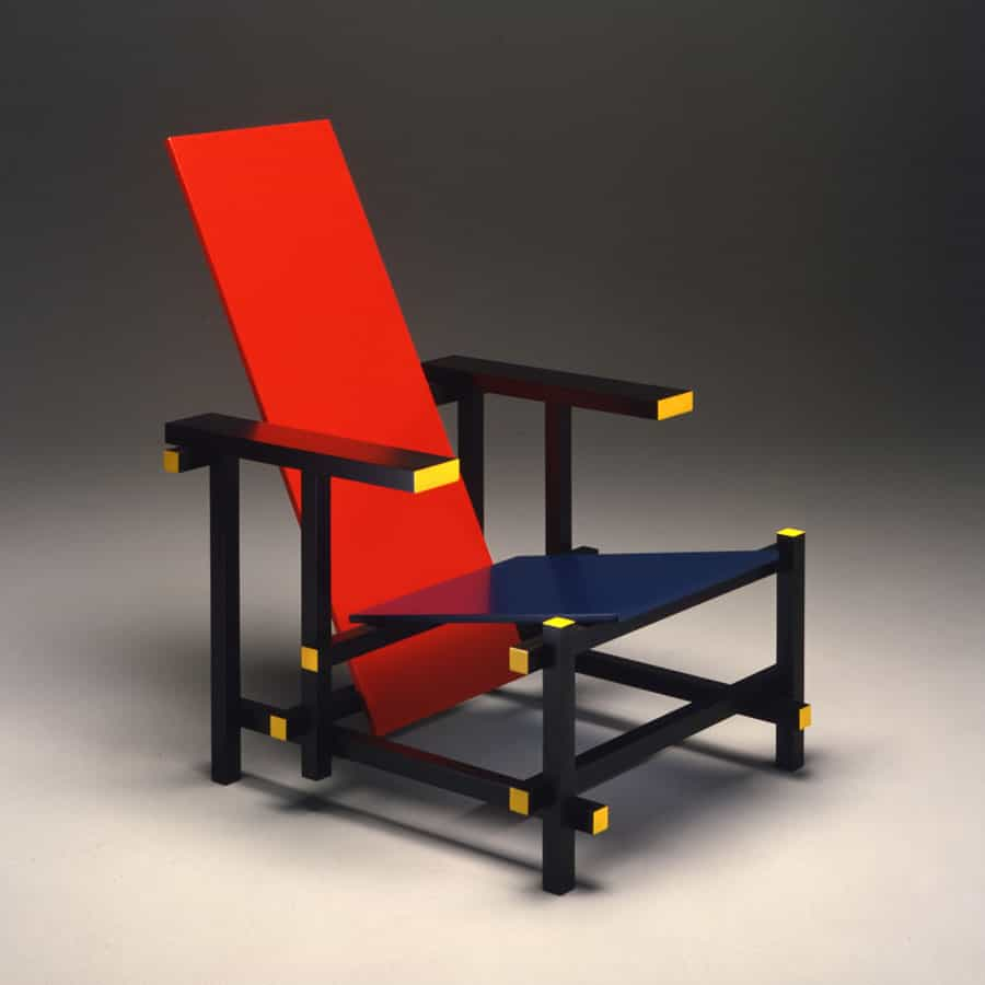 Red and Blue Chair, Gerrit Rietveld, 1917, Source: terraingallery.org