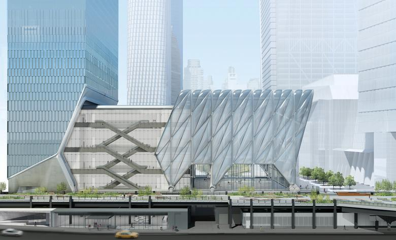 The Shed, deployed (Rendering: Diller Scofidio + Renfro in collaboration with Rockwell Group), Source: World-Architects