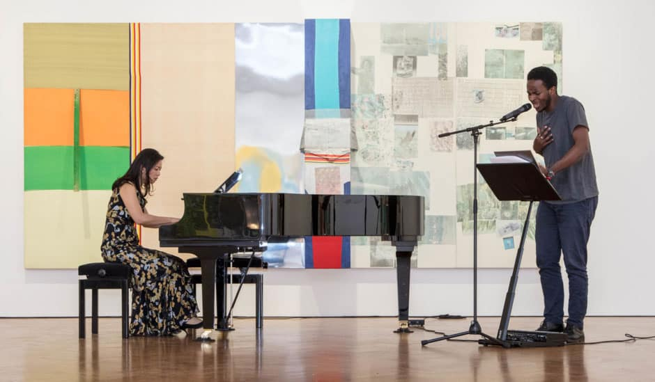 A cross-disciplinary music performance in three acts, presented by Galerie Thaddaeus Ropac and MusicArt, Galerie Thaddaeus Ropac, London 2019, Image Courtesy: Galerie Thaddaeus Ropac