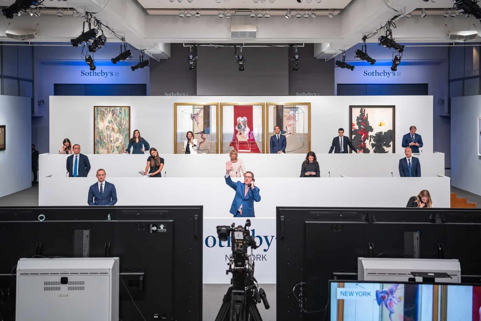 Sotheby's Live Global Auction Event: Sotheby's specialists taking phone and online bids from around the world, Courtesy Sotheby's