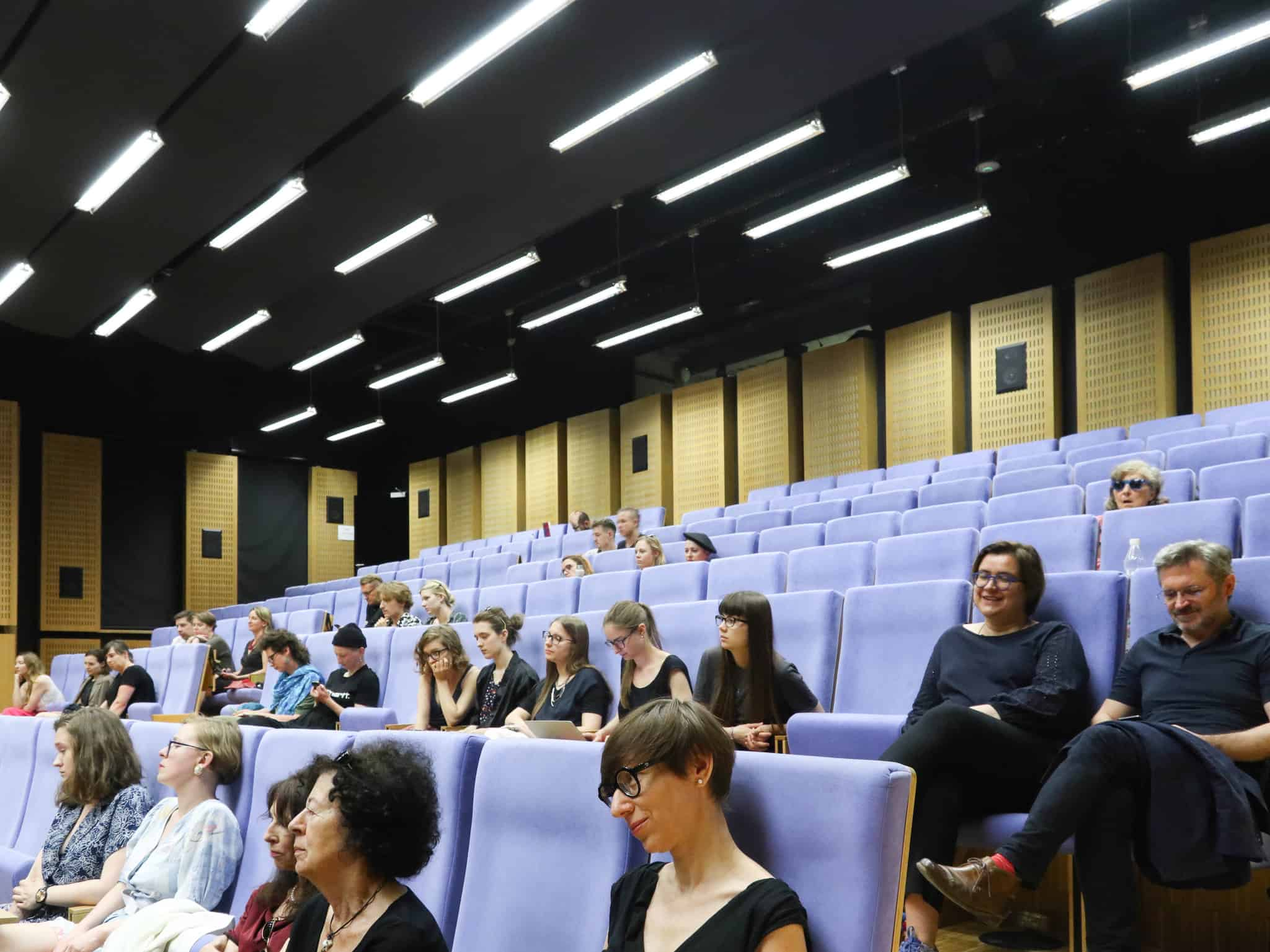 The public at the 'Art Criticism Today: Language, Economy, Politics' conference organised by AICA Poland, Warsaw 2019, Photo by Bartłomiej Gutowski