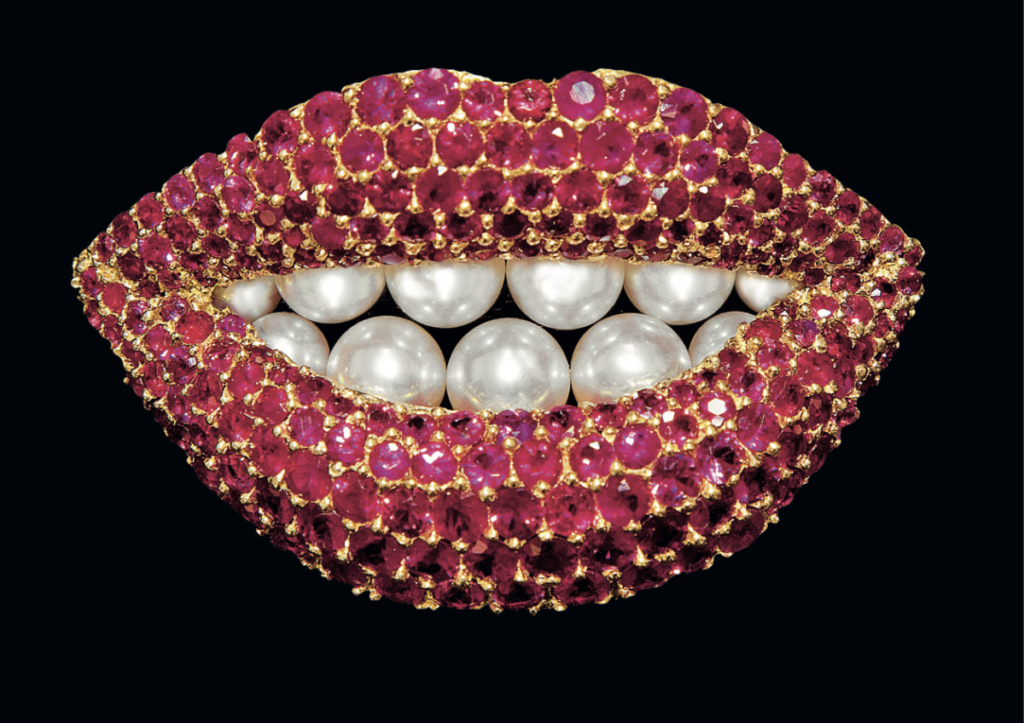 Medusa Jewellery and Taboos Salvador Dali reproduction by Henryk Kaston Ruby Lips, 1970-80 Miami, Private Collection Photo : Robin Hill