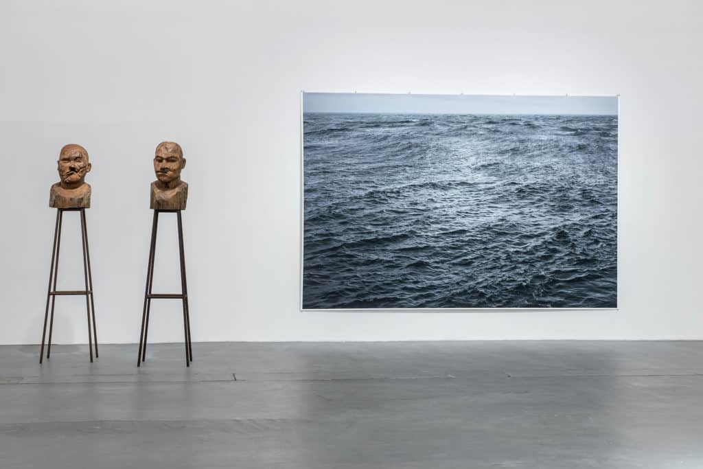 """From the left: Kader Attia, """"Culture, Another Nature Repaired"""", sculpture/object,2014; Wolfgang Tillmans, """"The State We're In"""", A,inkjet print,2015; photo: Wojciech Pacewicz"""