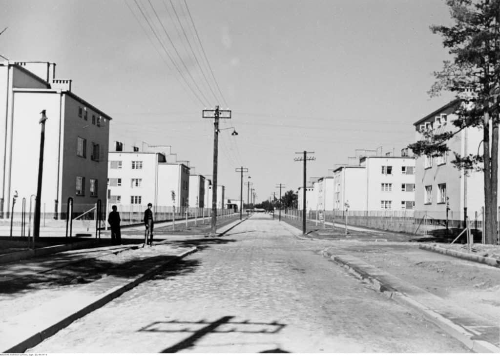 Stalowa Wola, workers' housing estate, before 1939, from National Digital Archives collection
