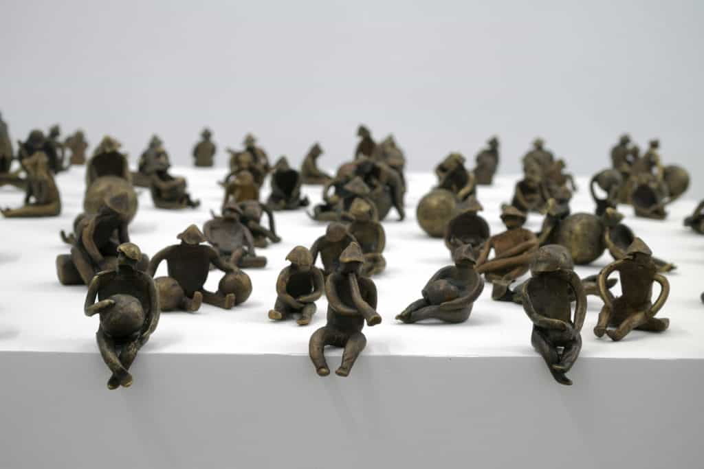 Geonauci, 1998-2004, bronze, different dimensions, about 5 x 3 x 3 cm each