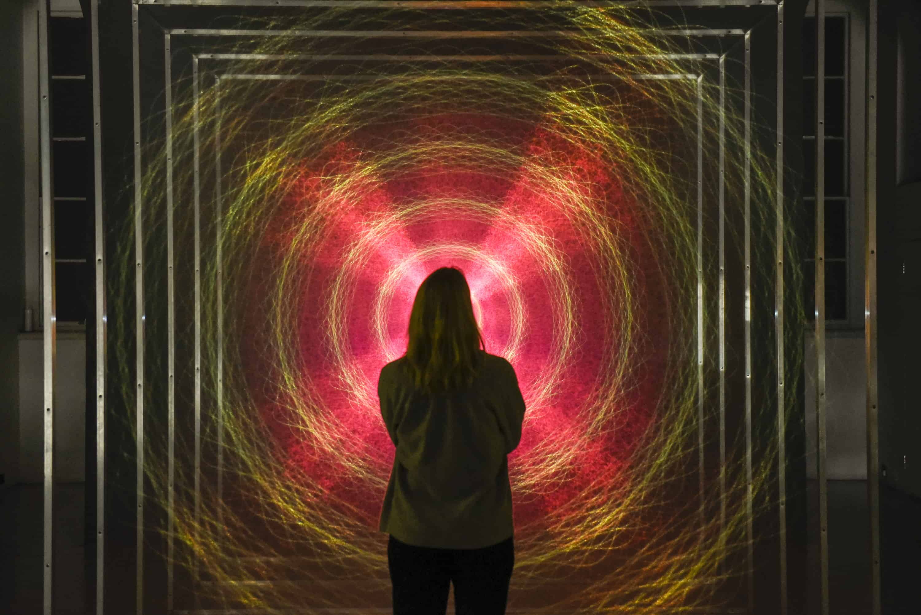 Installation view of Tekja, Awake, 2019 at 24/7 at Somerset House, Copyright Stephen Chung for Somerset House.