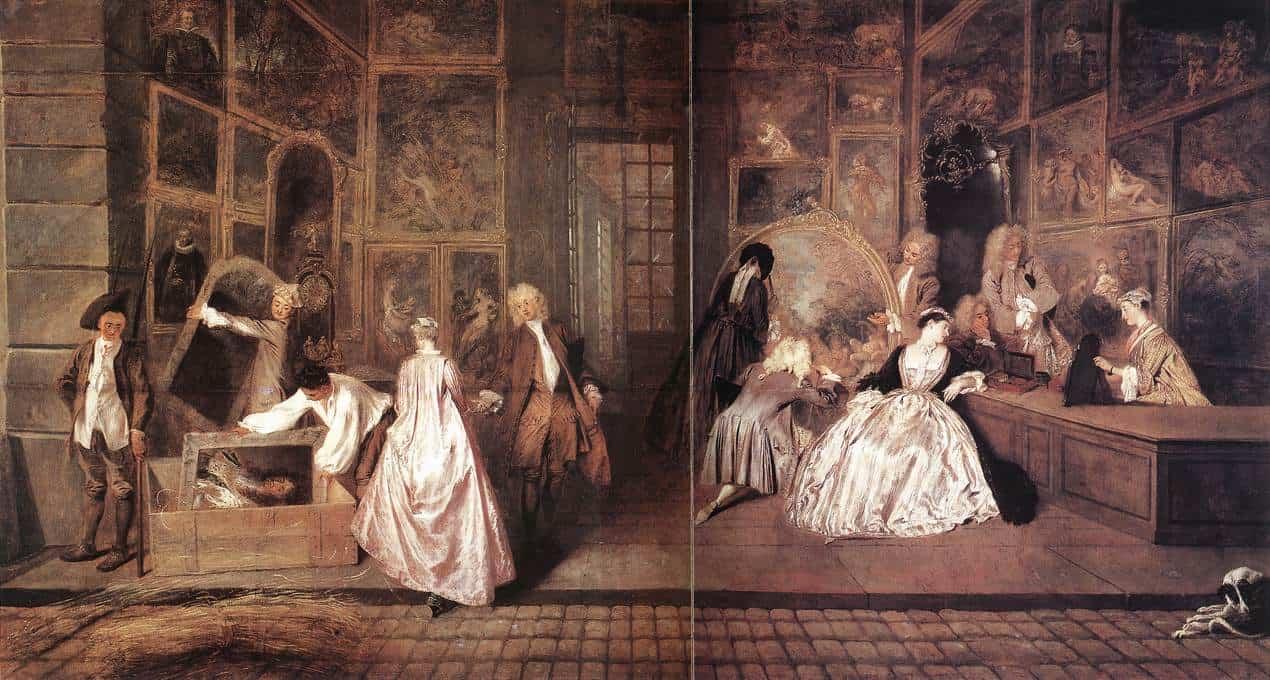 Antoine Watteau, The Shop Sign of Gersaint, oil on canvas, 1720