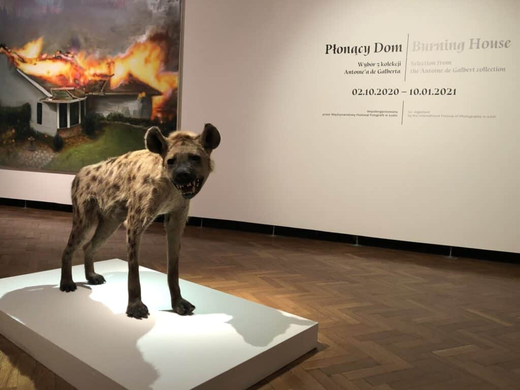"""""""Burning house. Selection from the Antoine de Galbert collection""""at the Muzeum Sztuki in Łódź."""