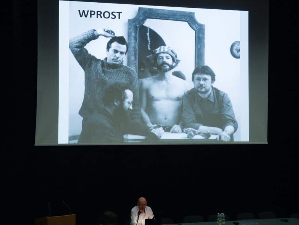 Marek Maksymczak's Presentation (Freedom on Commission: A Critic in Collaboration with the Security Service) at the 'Art Criticism Today: Language, Economy, Politics' conference organised by AICA Poland, Warsaw 2019, Photo by Bartłomiej Gutowski