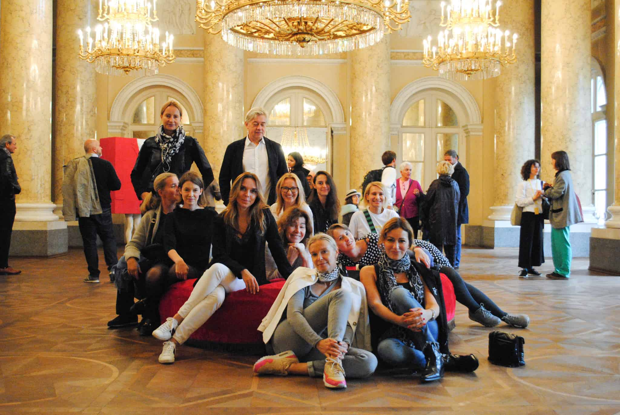 The Society for the Encouragement of Fine Arts visiting the private Collection Sanziany at the Rasumofsky Palace during Vienna Contemporary Art Fair, 2019, photo by Michalina Musielik
