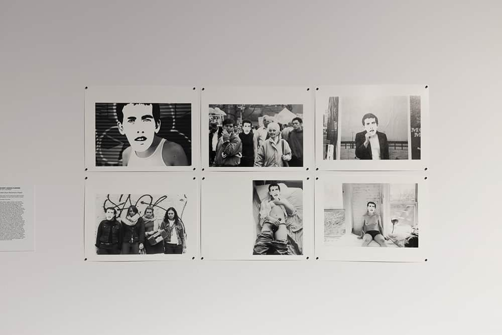 """Every Ocean Hughes, """"Untitled (David Wojnarowicz Project)"""", 2001–2007, six from a series of 12 black and white photographs, 27 x 35 cm each [exhibition copies], courtesy of the artist. Photo Alicja Kielan, © Wrocław Contemporary Museum, 2021."""