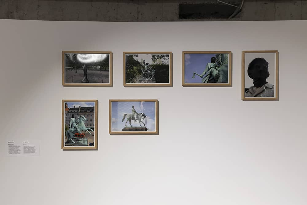 """Daniel Knorr, """"Stolen History"""", 2008, colour photography, 22.5 x 32 cm each, collection of the Museum of Modern Art in Warsaw. Photo Alicja Kielan, © Wrocław Contemporary Museum, 2021."""