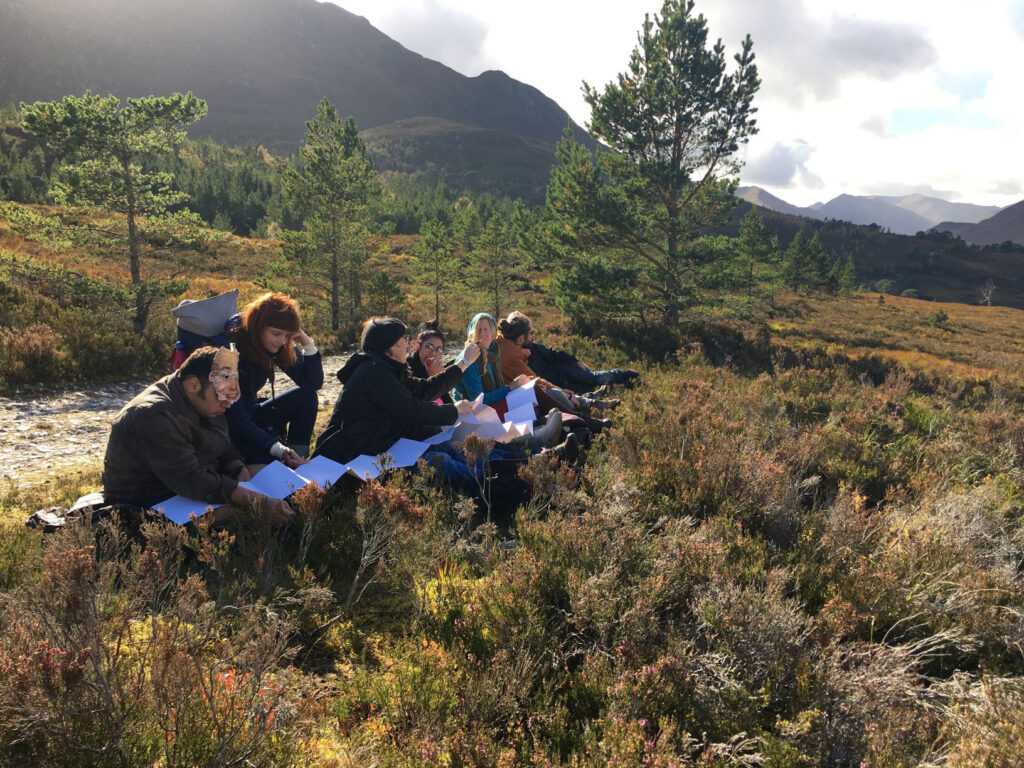 Project Art Works Illuminating the Wilderness, On Location in Glen Affric 2018 ©Project Art-Works
