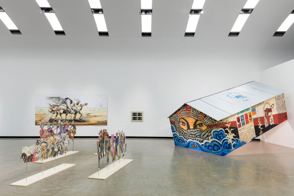 Installation view: And if I devoted my life to one of its feathers, Kunsthalle Wien 2021, photo: www.kunst-dokumentation.com