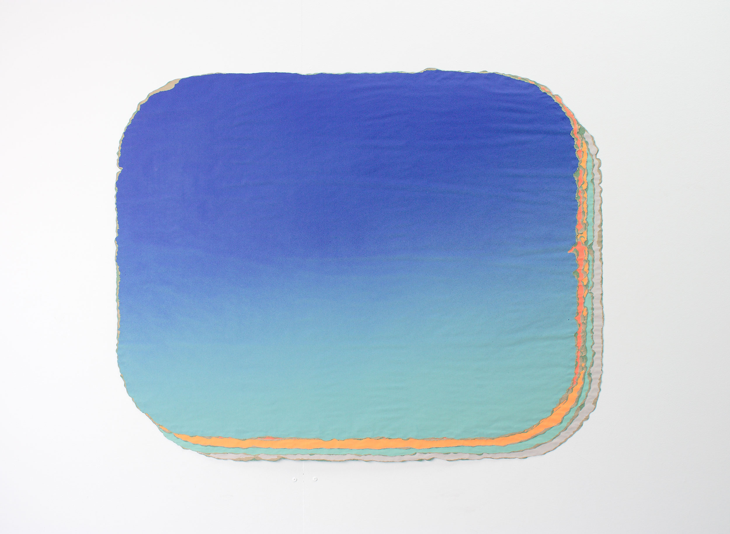 Irène Laub-Guillermo Mora, Colección de fondos (nº 57) _ Collection of backgrounds (nº 57), 2018, Acrylic on paper, 88 x 109 cm (courtesy the Artist and Irène Laub Gallery)