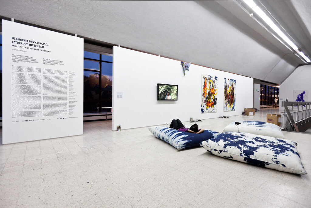 """Privacy Settings. Art after the Internet"""", exhibition view, photo Bartosz Stawiarski"""