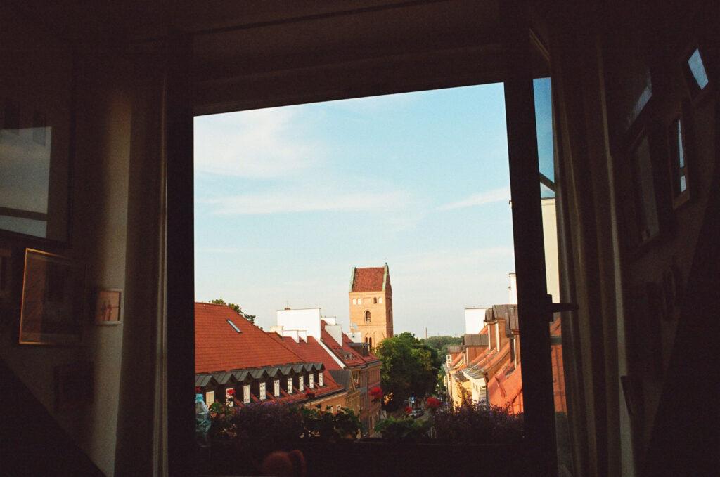 Wiew from the studio window, photo by Patrycja Głusiec