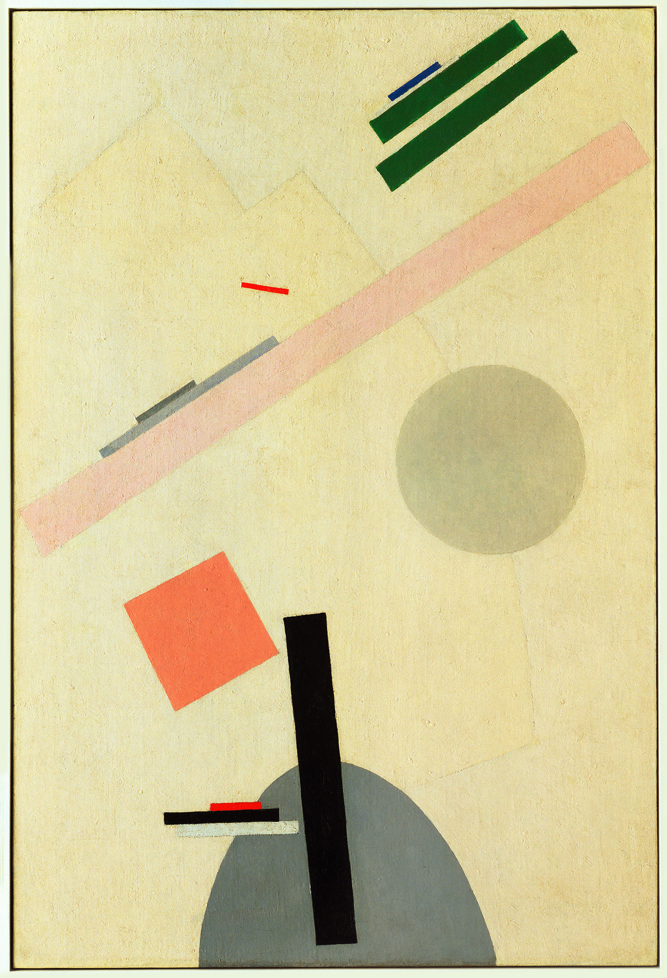 """Kazimir Malevich, """"Suprematist Painting"""", 1916-17, oil on canvas, courtesy of Museum of Modern Art. (MoMA), New York"""